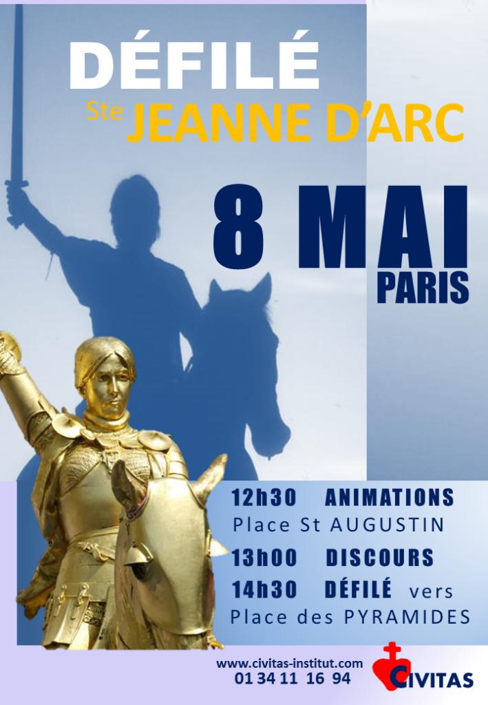 France, lève-toi et marche ! Appel à participer au défilé de Jeanne d'Arc le 8 mai 2016 (abbé de La Rocque)
