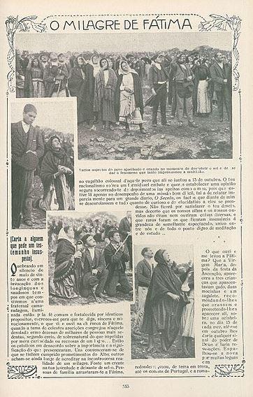 A propos des Miracles de Notre-Dame de Fatima