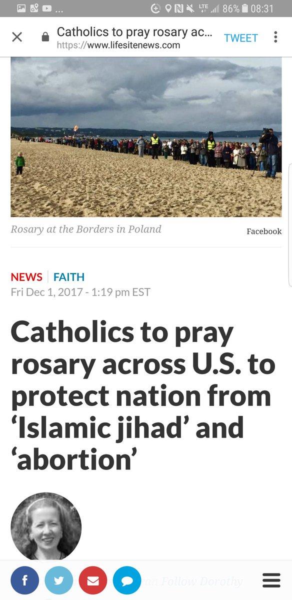 Etats-Unis – Le 12 décembre 2017, des milliers de catholiques ont prié le Rosaire pour sauver leur pays du djihad et de l'avortement