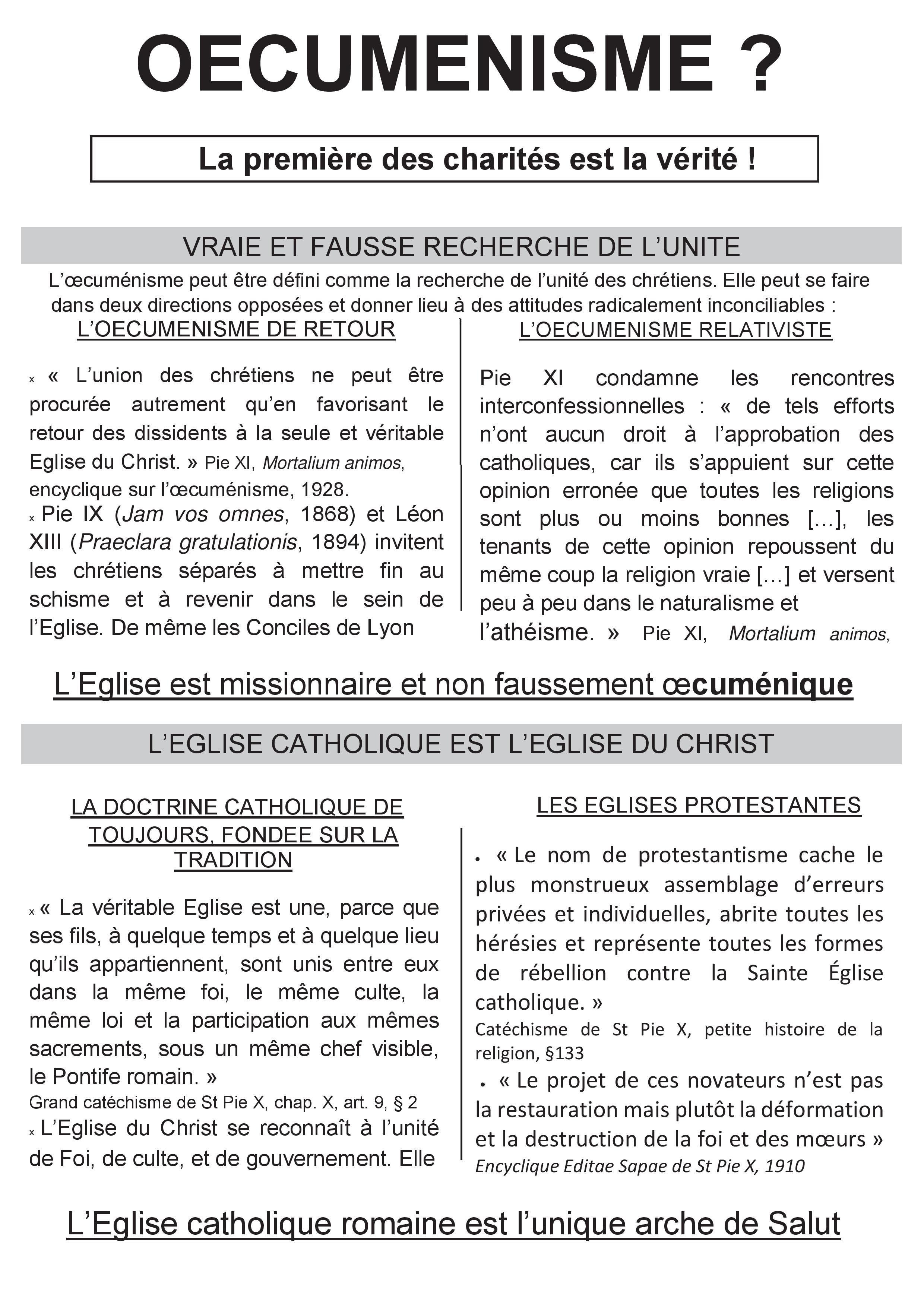 Le tract argumentaire du MJCF contre les célébrations œcuméniques avec les Luthériens