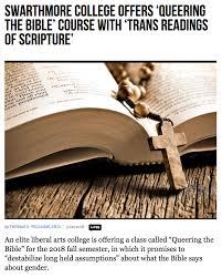 Etats-Unis – Une université quaker propose un cours pour interpréter la Bible au goût du lobby LGBT !