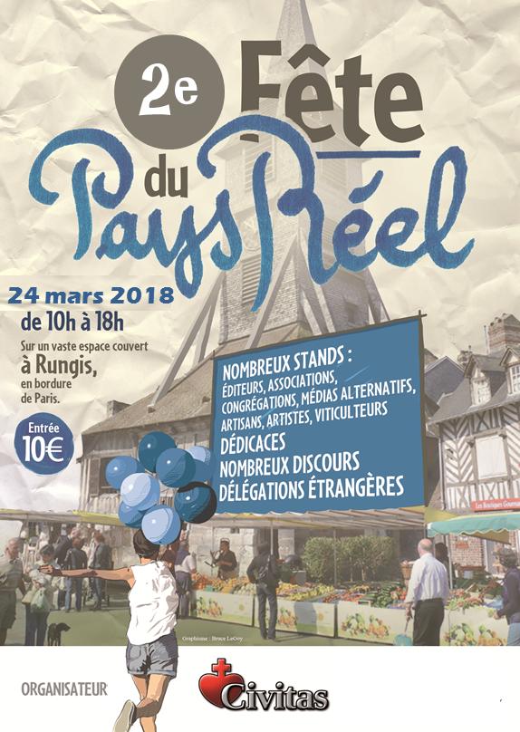 Retrouvez Jean Dollié à la Fête du Pays Réel le samedi 24 mars 2018 à Rungis