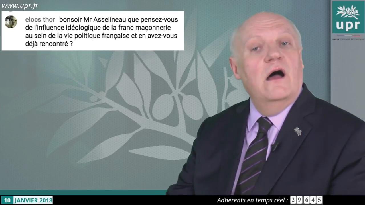 L'UPR de François Asselineau lance sa fraternelle maçonnique !