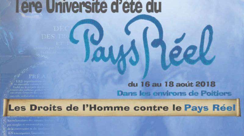 Les Droits de l'Homme contre le Pays Réel, thème de l'université d'été lancée par Civitas