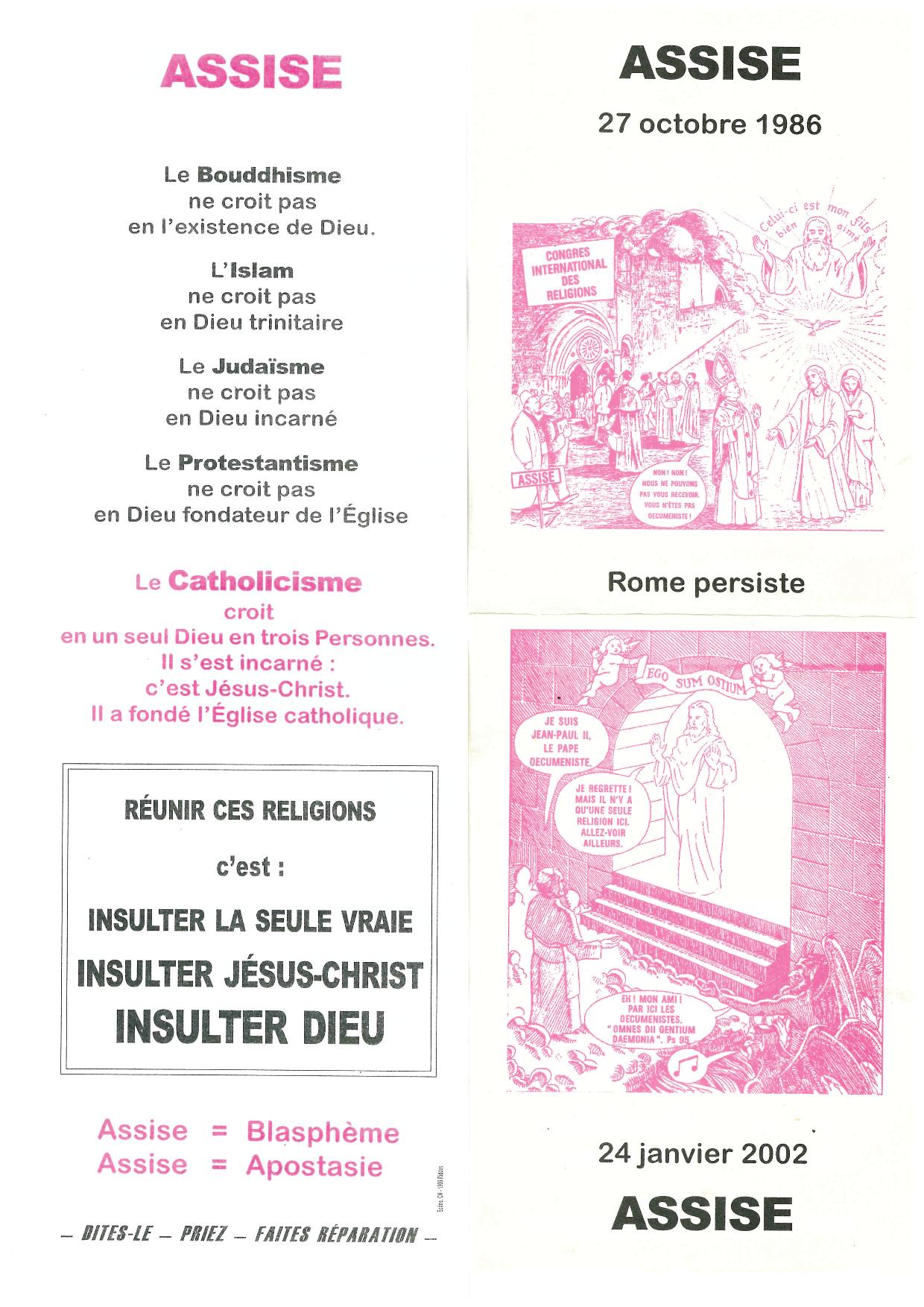 Mme Huguette Perol, symptôme d'un catholicisme traditionnel libéral à la dérive