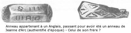 L'anneau de Jeanne d'Arc, vendu aux enchères en Angleterre 376.833 €, rentre enfin en France après 600 ans…