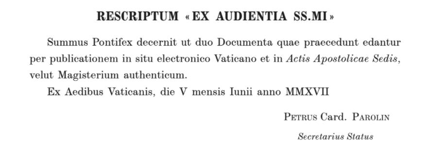 L'interprétation ultra-libérale d'Amoris laetitia par les évêques d'Argentine: magistère authentique selon le pape François
