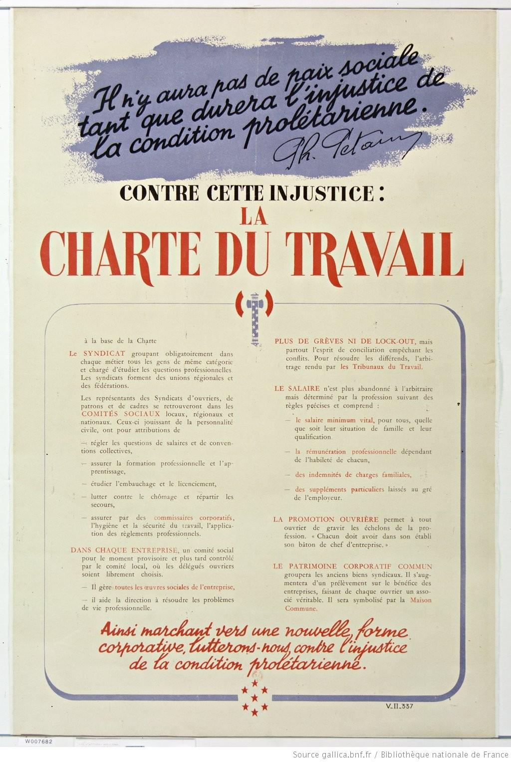Images d'archives – Vichy et le Travail