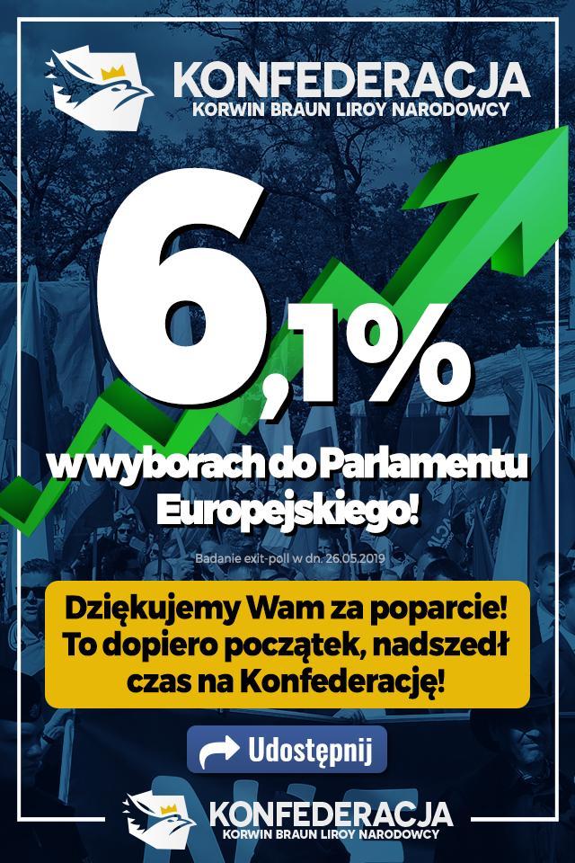 La Confédération nationaliste polonaise obtient trois députés européens
