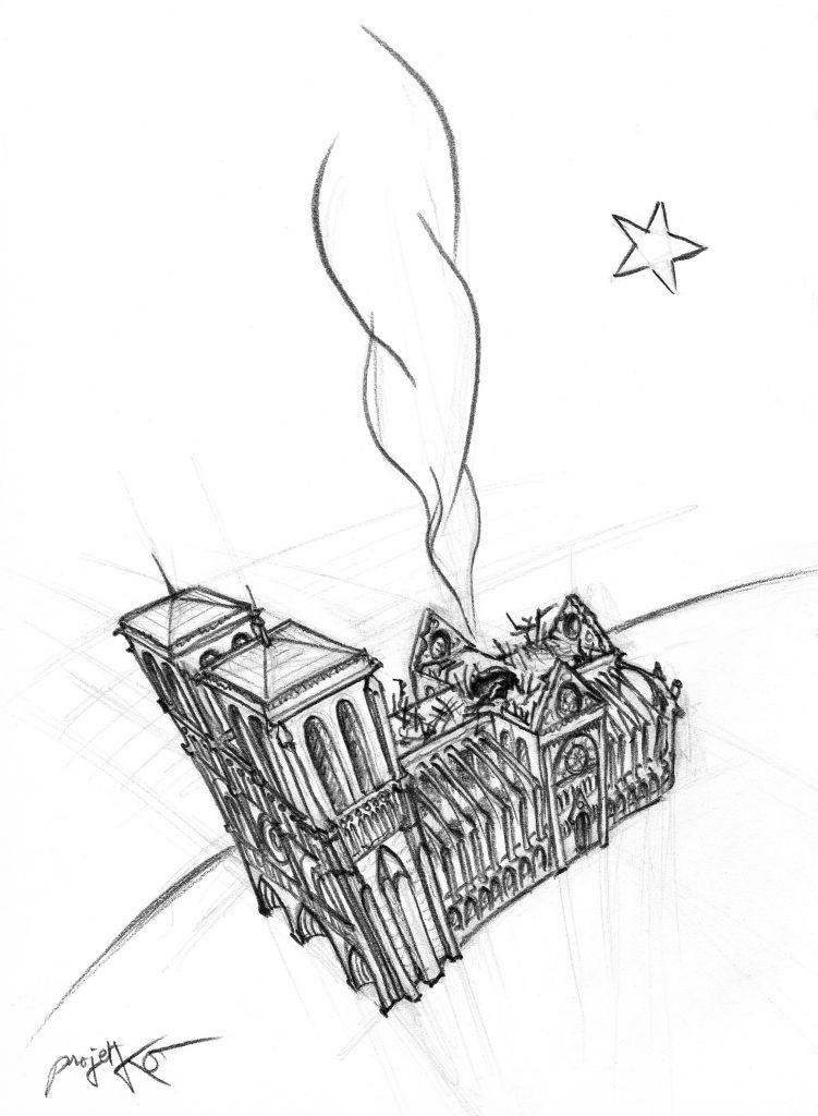 Les vrais Gilets Jaunes doivent tirer leur force dans l'épreuve subie par Notre-Dame de Paris !