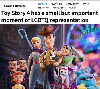 Toy Story 4 (Pixar/Disney) fait aussi de la propagande LGBT