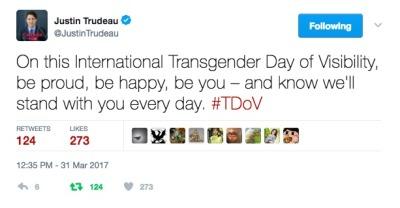 Le gouvernement canadien offre 500.000 $ aux lobbies transgenres en plus des vingt millions de $ de subventions aux lobbies LGBT
