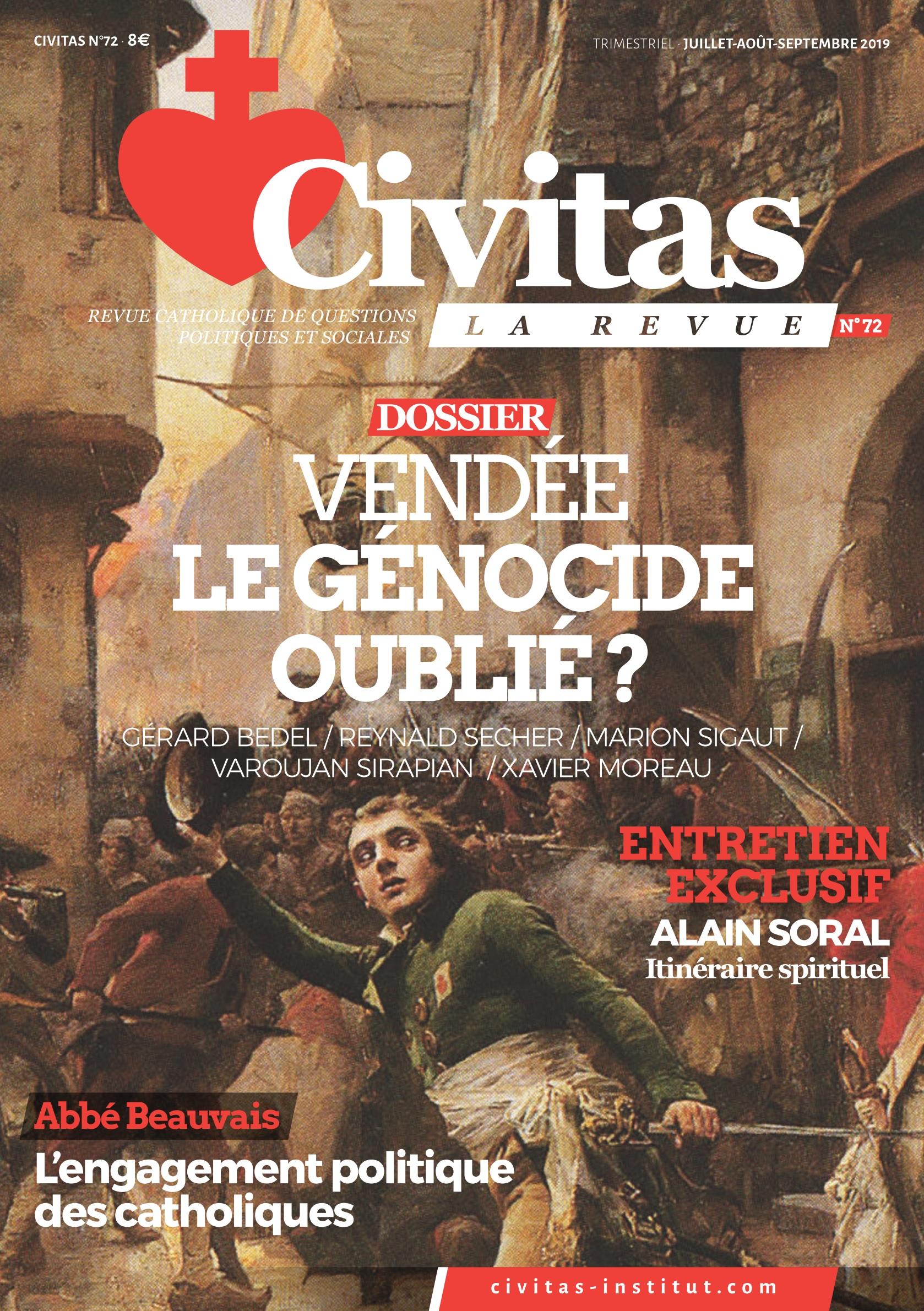 Alain Soral raconte son itinéraire spirituel dans la nouvelle revue Civitas