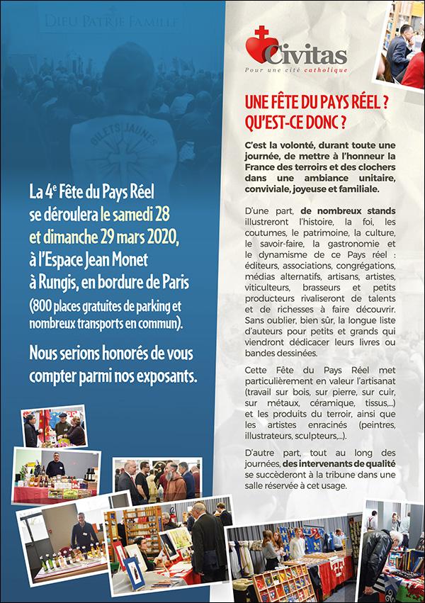 28 & 29 mars 2020 – Visitez l'échoppe des Pierreux à la 4e Fête du Pays Réel