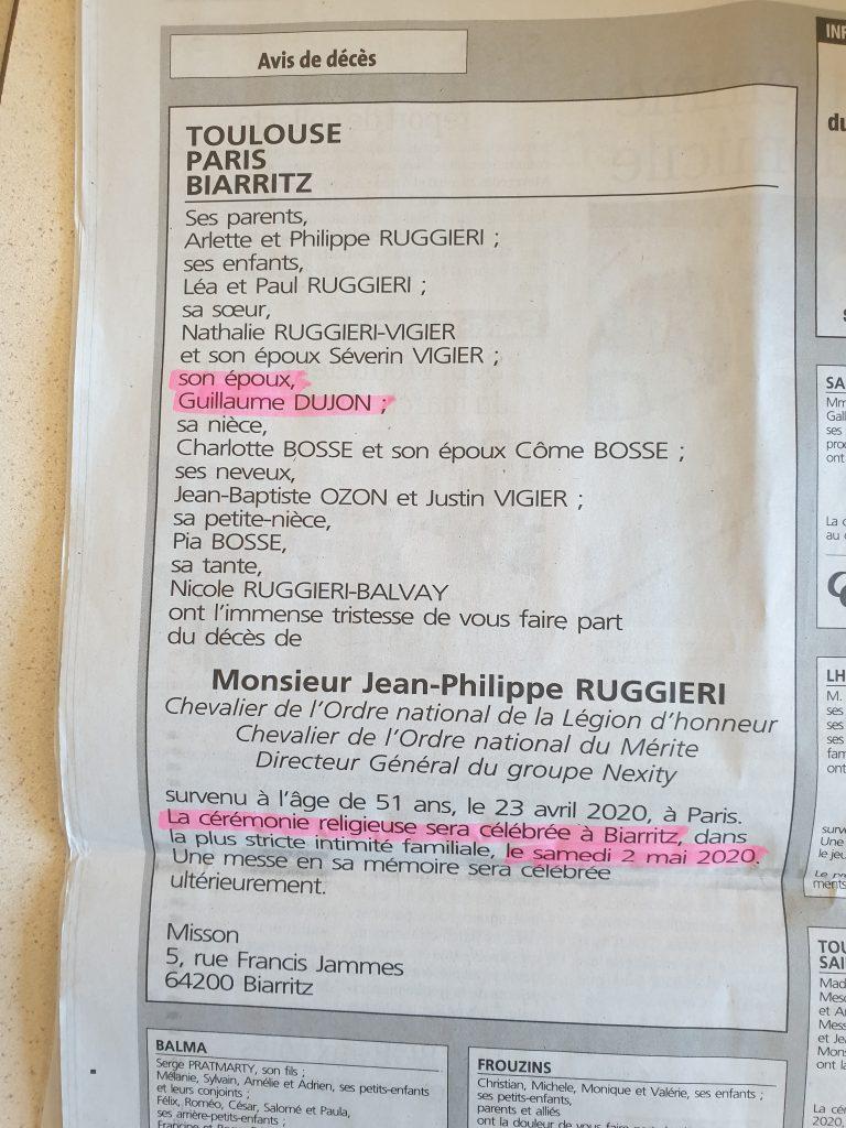 Une scandaleuse cérémonie religieuse à Biarritz pour les funérailles d'un patron notoirement homosexuel