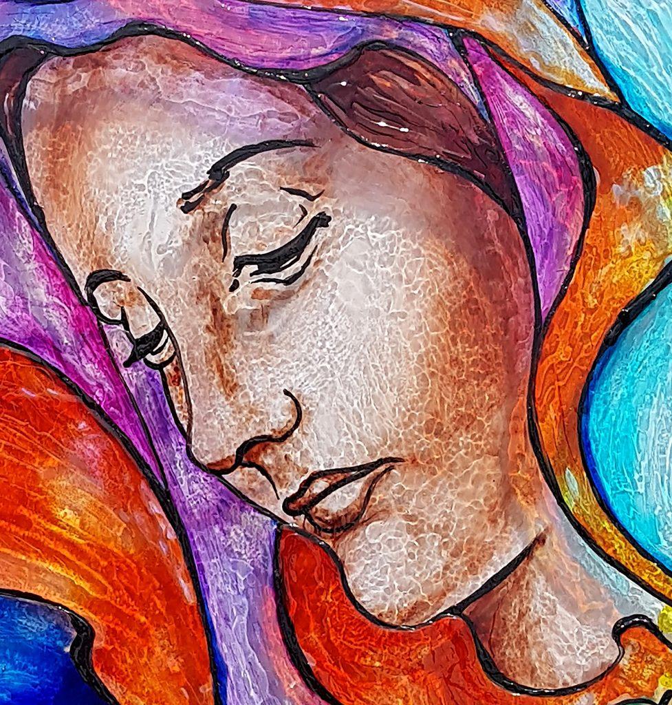 Avant-première d'un vitrail pour le 15 août en hommage à la Sainte Vierge Marie