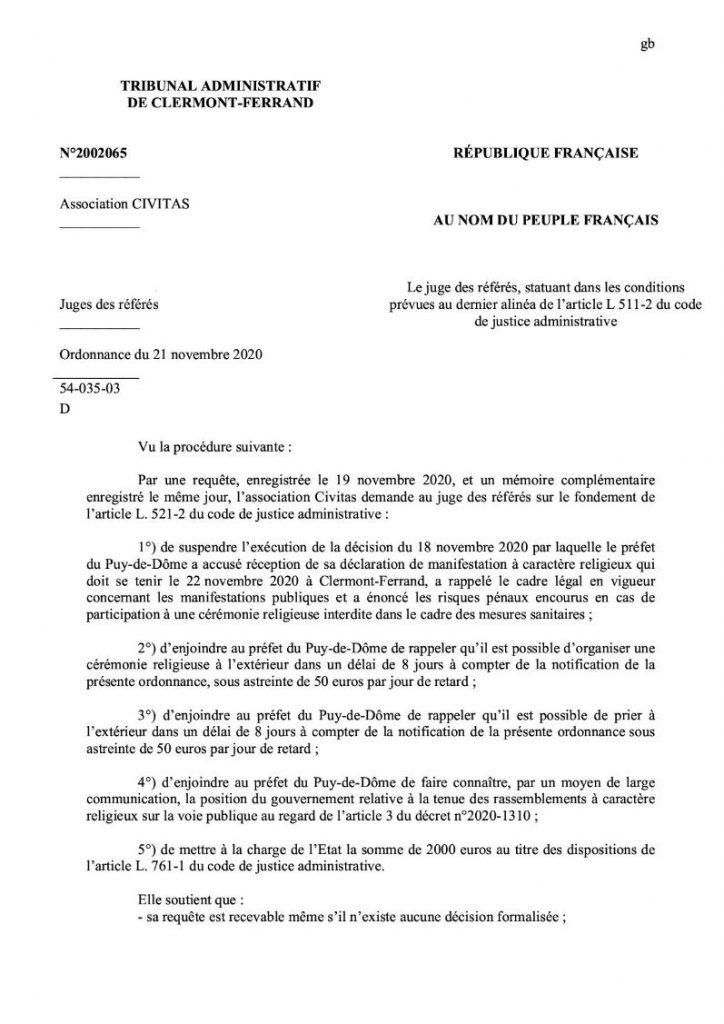 CIVITAS fait condamner l'Etat pour interdiction illégale de manifestation religieuse : une jurisprudence qui fera date !