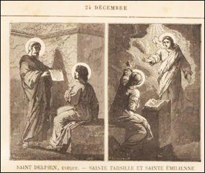 Jeudi 24 décembre – Vigile de la Nativité de Notre-Seigneur Jésus-Christ – Saintes Tharsille et Émilienne, Vierges