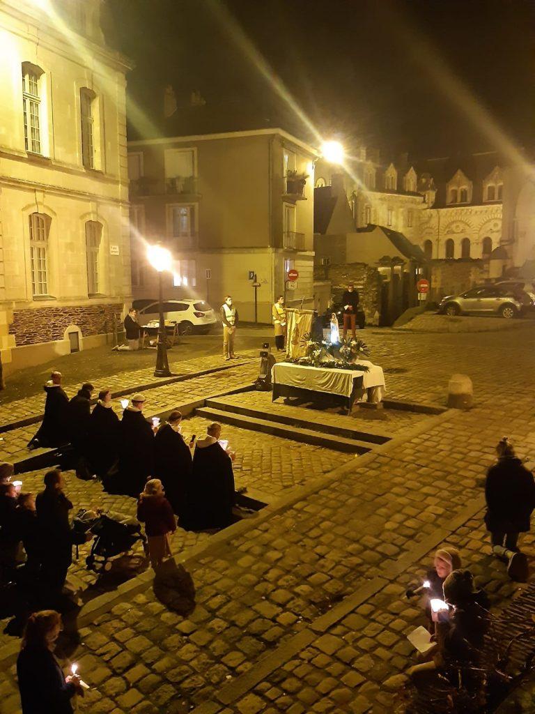 Reportage à Angers pour la Fête de l'Immaculée Conception