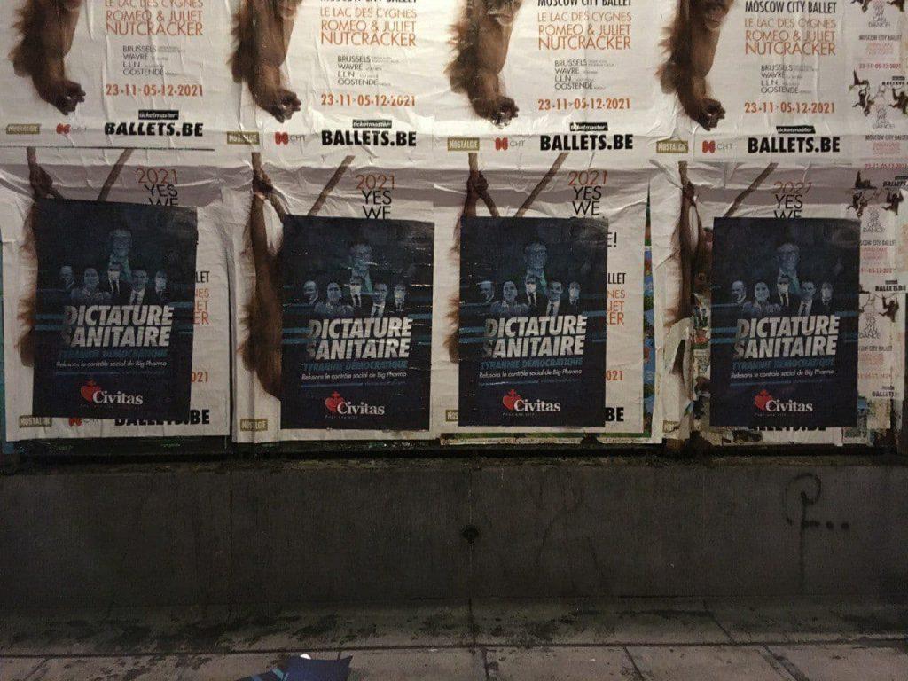Civitas démarre en Belgique avec une campagne contre la dictature sanitaire