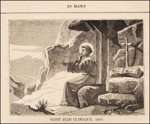 Mardi 30 mars – Mardi Saint – Saint Jean Climaque, Abbé, Père de l'Église (525-605)