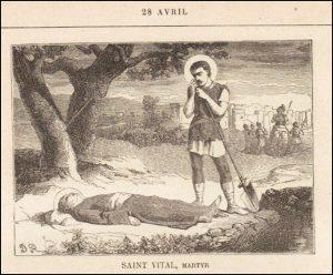 Mercredi 28 avril – Saint Paul de la Croix, Confesseur – Saint Vital, Martyr – Saint Louis-Marie Grignon de Montfort, Confesseur – Saint Pierre-Marie Chanel, Premier martyr de l'Océanie