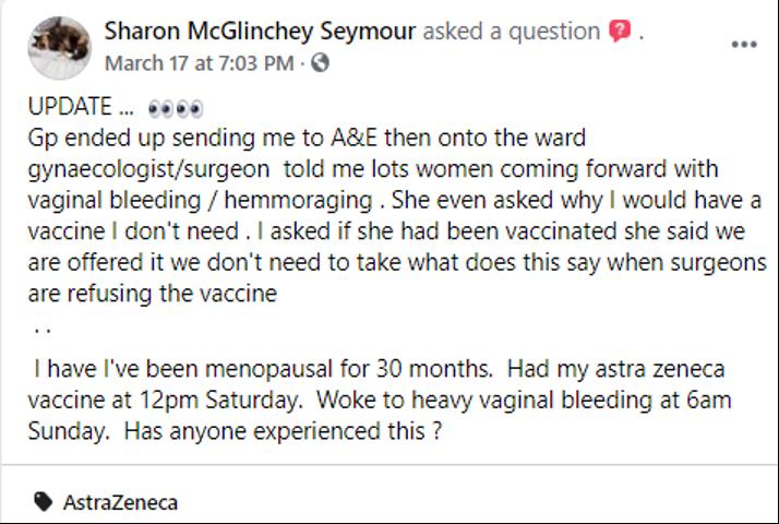 Vaccination anti-Covid : cycles menstruels perturbés et problèmes de fertilité