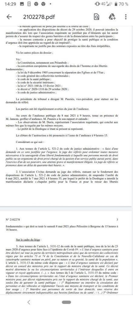 En Dordogne, Civitas fait une nouvelle fois condamner l'État