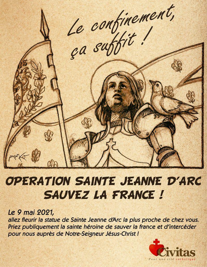 Opération Sainte Jeanne d'Arc ce 9 mai à travers la France