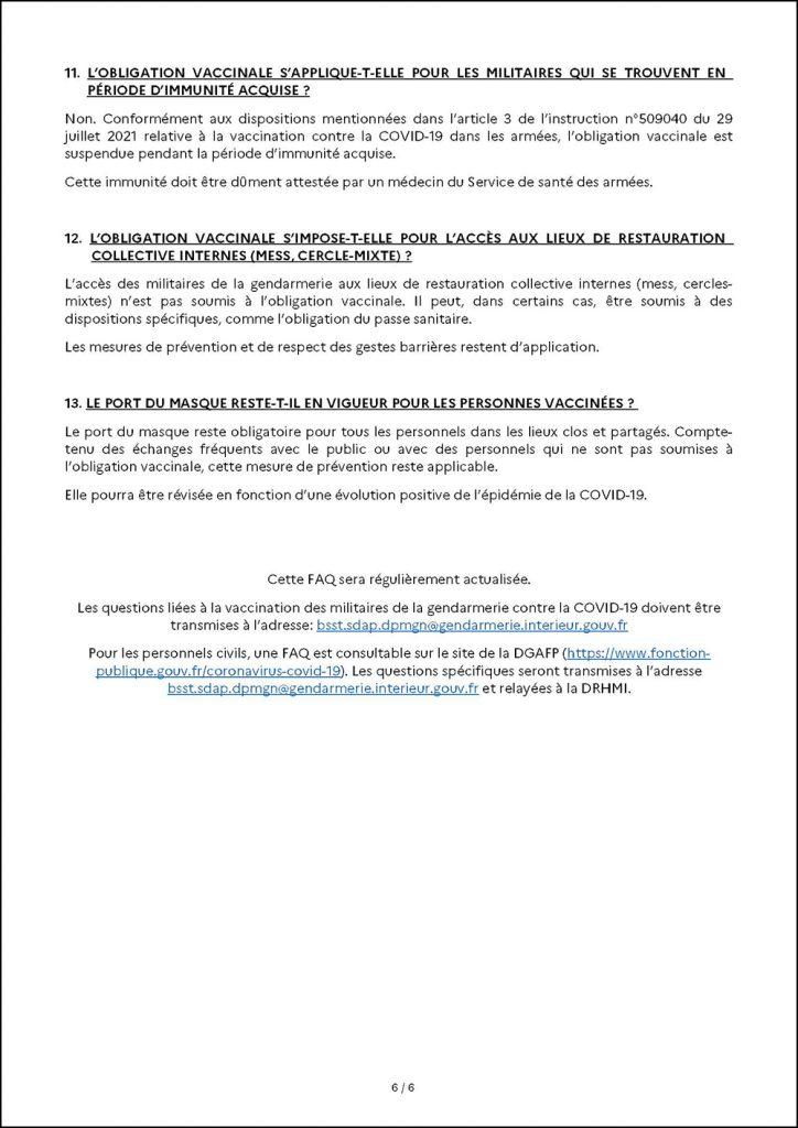 Civitas dépose un recours contre une directive officielle interdisant aux gendarmes de critiquer, même en privé, la vaccination obligatoire, le président de la république et le gouvernement