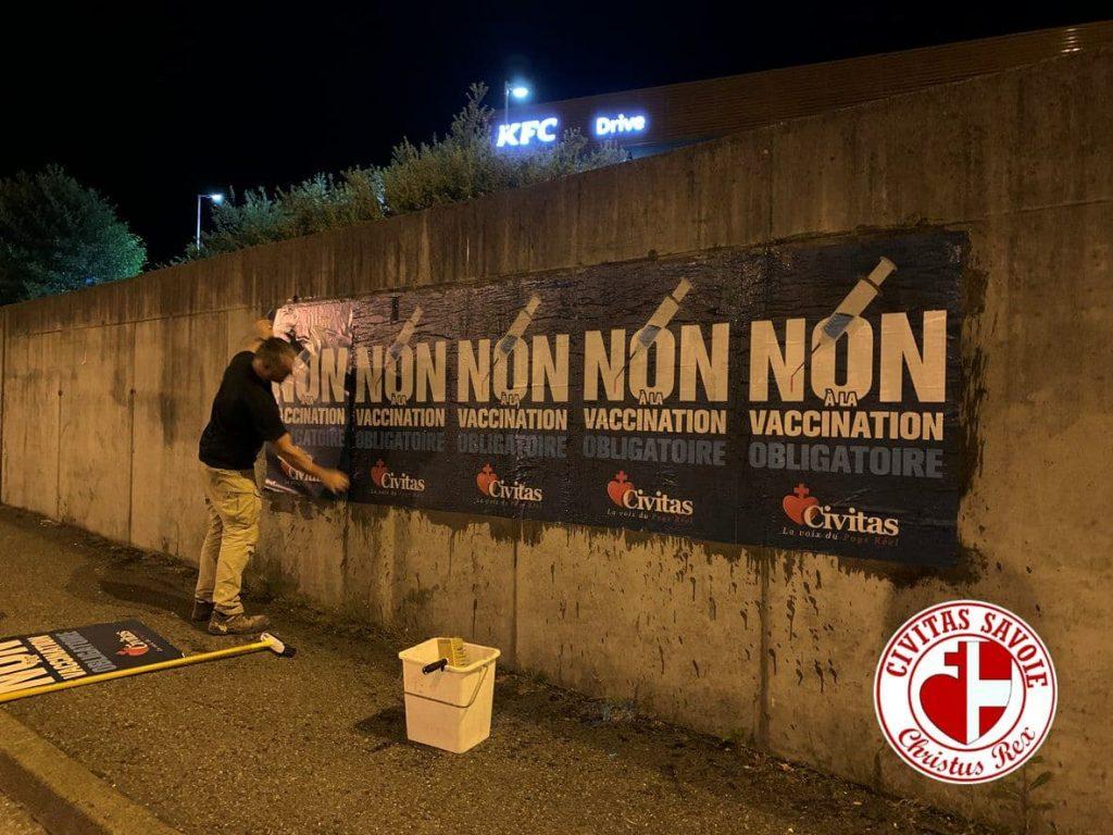 De Bordeaux à Lille, Civitas affiche dans toute la France contre la dictature sanitaire, le passe et la vaccination obligatoire