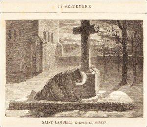Vendredi 17 septembre – De la férie – Impression des Sacrés Stigmates sur le corps de saint François, Confesseur – Saint Lambert, Évêque de Maëstricht et Martyr