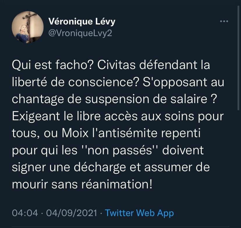 Véronique Lévy prend la défense de CIVITAS !